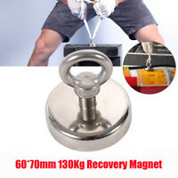 286LBS Neodymium Recovery Magnet Detector Round Eyebolt Sea Fishing Hunting USA