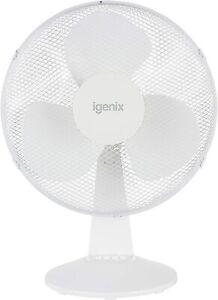 IGENIX DF1610 WHITE 16 INCH OSCILLATING, PORTABLE DESK FAN