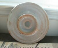 """Vtg Gray Stoneware Pottery Butter Churn Crock 7 1/4"""" Lid Red Wing Western"""