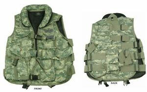 ACU Digital Camouflage Tactical Vest with Soft Collar by TAIGEAR