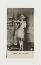 Marilyn Miller 1930s De Beukelaer Film Stars Trading Card #8 E2