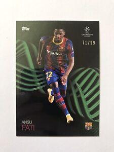 2021 Topps On Demand UEFA Champions League Knockout Andu Fati 71/99 Barcelona