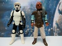 VINTAGE (2 LOT) 1983 STAR WARS ACTION FIGURES  RETURN OF THE JEDI  VG CONDITION