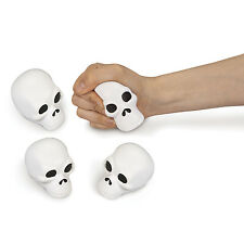 12 Pirate Party Favors Foam Relaxable Toy SKULL Shaped STRESS BALLS halloween