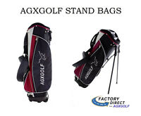 AGXGOLF Mens Stand Golf Bag w/Dual Strap Red; Great Carry Bag w/Rain Cover
