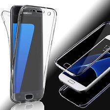 Full TPU Silikon Handy Tasche Case für Samsung Galaxy Schutz Hüllen Transparent