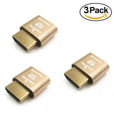 3Pack--HDMI DDC EDID Dummy Plug Headless Ghost Display Emulator PC / Mac 2K@60Hz