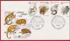 1974 Marsupial Animals Australia Wcs Fdc Glider Spiny Anteater Possum & Wombat