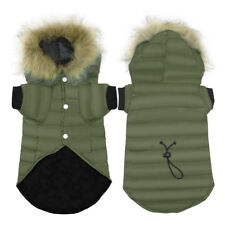 Winter Dog Hoodie Coat Small Medium Pet Clothes for Dogs Outfit Jacket Green
