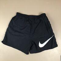 Vtg 90s Nike Men's Swim Trunks Big Check Logo Swoosh Shorts White Tag (52)