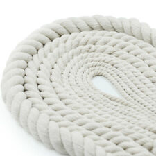 Twisted 100% Natural White Cotton Rope Super Soft 3 Strand No Bleach or Dyes DIY