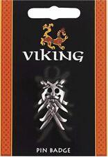 Vikiing Odins Mask Pewter Lapel Pin Badge