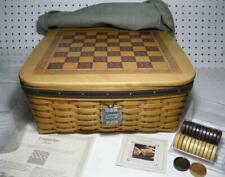 Longaberger 2001 Dad Christmas COMBO CHECKERBOARD BASKET LINER PROTECTOR CARD