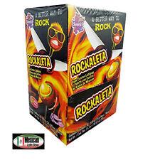 Sonrics Rockaleta Lollipops Gum Center display 30 pops on box 1-Lb 9-oz box
