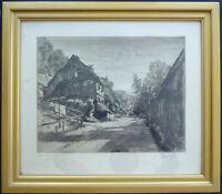 Alt München Alt Giesing Conrad Pfau Radierung Tiefdruck Stadtansicht ~1920