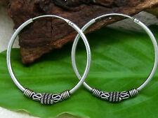 Keltische Creolen Spirale 925 Silber Ohrringe Ø 35mm Bali Creole Ohrschmuck