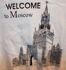Welcome To Moscow Russia Russian XL T Shirt Made By STUFF in Uzbekistan