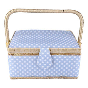 Needle Storage Box Double-Layer Sewing Basket for Needle Storage Sewing Tools