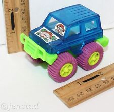 "CHUCK E CHEESE'S MOUSE 3"" MONSTER 4X4 TOY CAR TRUCK VEHICLE ROLL REV & GO USED"