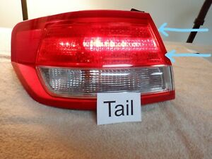 2010-2012 Lincoln MKZ Left LH Tail Light Outer Quarter Panel Mounted