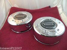 American Racing Wheel ATX Chrome Custom Wheel Center Caps #1645100017 SET OF TWO