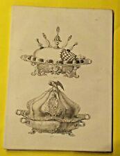 ANCIENNE GRAVURE XIX JAMBON A LA PRINTANIERE ,AU MARCASSIN