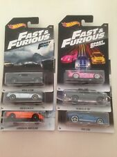 2018 HOTWHEELS - FAST & FURIOUS - COMPLETE SET OF 6