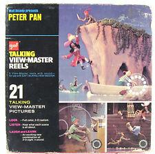 Disney Peter Pan Talking View Finder Reels Vintage 1973 gaf