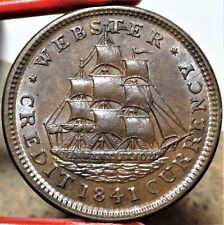 HT-22 Low-64 1837 Anti Van Buren / 1841 Webster Credit Currency Hard Times Token