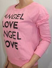 VICTORIA'S SECRET Women's Angel Bling Crew Sweat Shirt Color Pink Small NWT