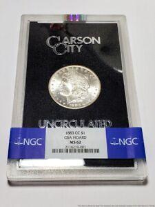 1883-CC $1 GSA Hoard MS-62 Uncirculated Carson City NGC Morgan Silver Dollar