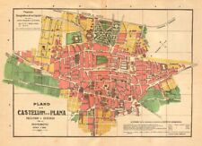 CASTELLON DE LA PLANA. Plano antiguo cuidad. Antique town plan. MARTIN c1911 map