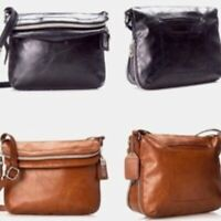 Relic Fossil Cross Body Expandable Messenger Bag (Cognac)  Brown or Black NWT