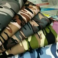 1 Yard Fashion Army Green Camo Camouflage Print Cotton Material Fabrics Poplin !