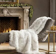 75 X 83 IN PREMIUM Comfort Suri Alpaca Fur Rug/Bed Spread/Throw Blanket White