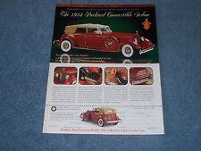 1932 Packard Convertible Sedan Franklin Mint Die-cast Vintage Ad