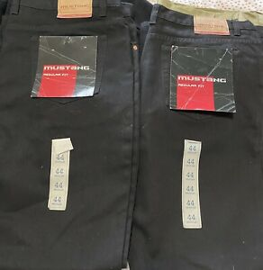 2 Mustang Stretch Denim Jeans Cotton 112 Normal Retail $160 BLACK