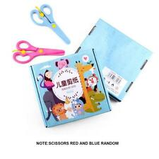 120Page Kids DIY Scissor Skill Paper Cutting Activity Book Safe Xmas Toy Gift JJ