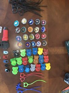 Large Metal Fusion 2010 Beyblade Mixed Lot (65pc)  20 Beyblades Plus Accessories