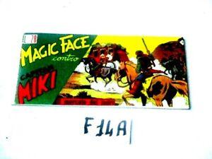 MAGIC FACE CONTRO CAPITAN MIKI N° 9 IL MERCATO DEI LADRI  ANAST. (F14A)