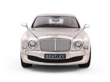 Rastar 1:18 Bentley mulsanne Diecast Model Vehicle Car Golden