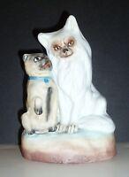 Antique Victorian Bisque Porcelain Spitz and Pug Dog Figurine
