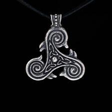 Triskele Pendant, silver-plated brass, handmade ..... triskelion pendant