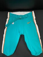 #70 MIAMI DOLPHINS NIKE GAME USED AQUA CURRENT STYLE PANTS 2019/2020 SEASON