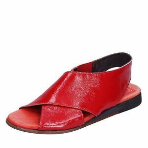 scarpe donna MOMA 37 sandali rosso vernice DT676