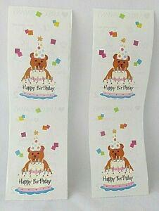 "Mrs Grossmans Stickers Scene One Birthday Party 2 Sheets Birthday Bear 2"" x 6.5"""