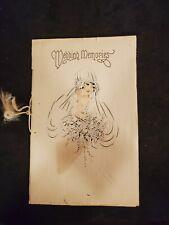 Vintage 1927 Wedding Memories Scrapbook / Registry (Notes, Articles & Telegram)