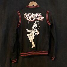 My Chemical Romance Varsity Jacket Sz S Long Sleeve Black Snap Button Used