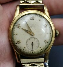 Vintage Mens Tissot Automatic Bumper Watch 6573-4 Gold Plate Running 33mm 28.5-1