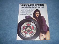 "1972 Motor Wheel Spyder Wheels Vintage Ad ""...And Blew Miss Muffet's Doors Off"""